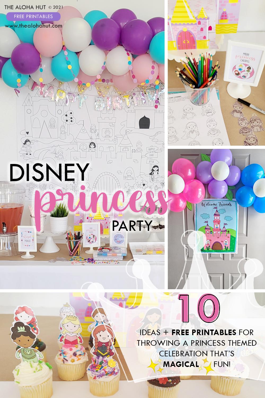 10 Ideas + Free Printables - Disney Princess Party by the Aloha Hut