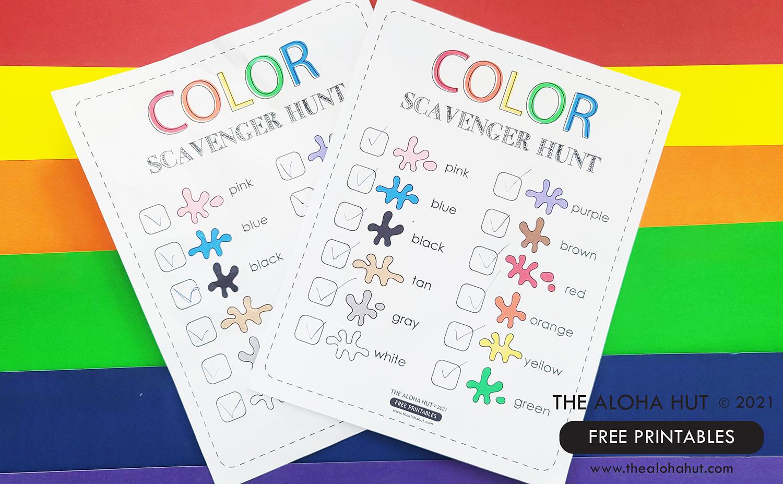 FREE Printable Color Scavenger Hunt