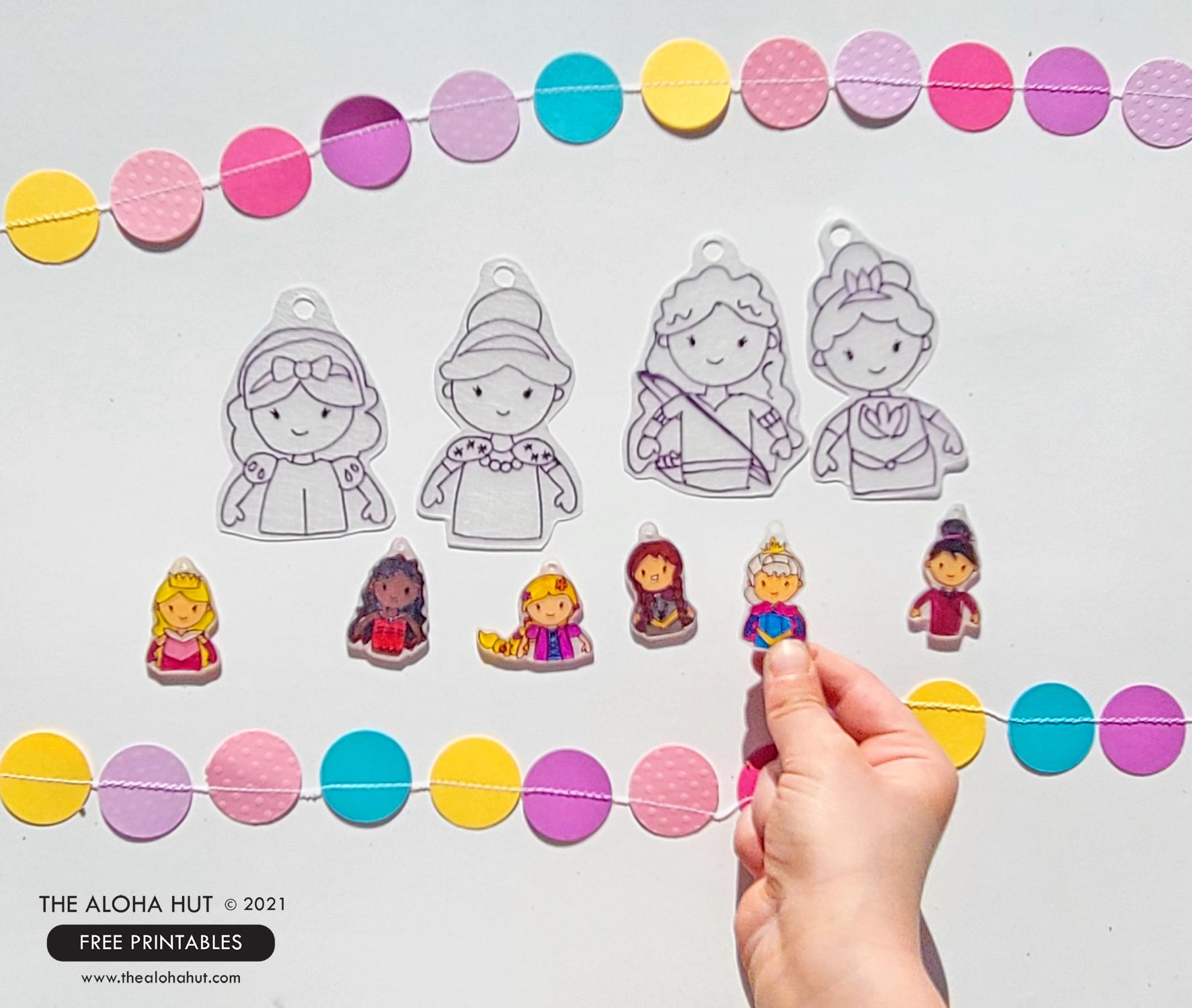 Disney Princess Party shrinky dink charms 4
