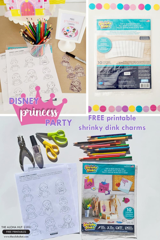 Disney Princess party shrinky dink charms