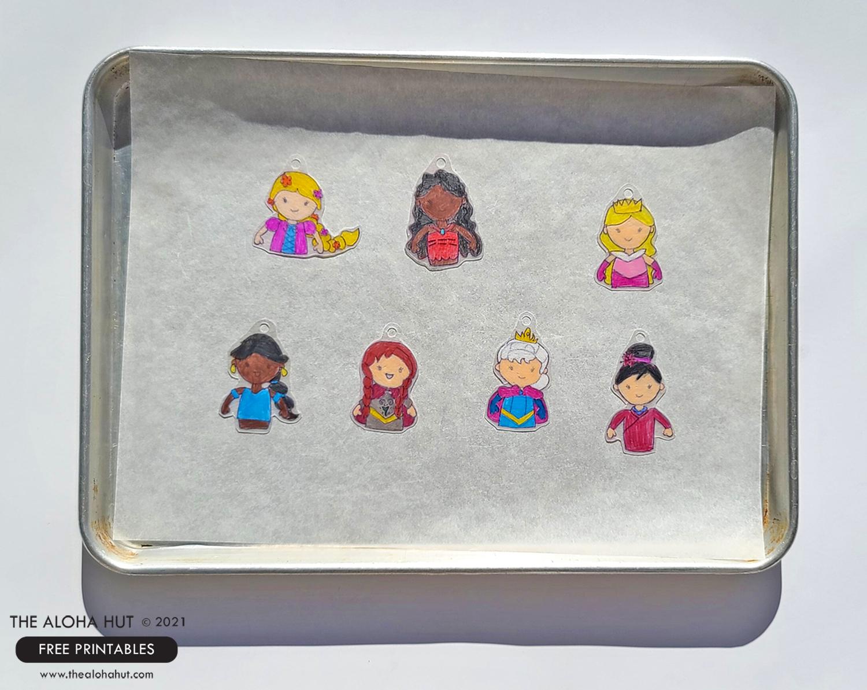 Disney Princess party shrinky dink charms 3