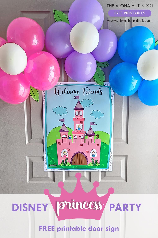 FREE Princess Party Door Sign_The Aloha Hut
