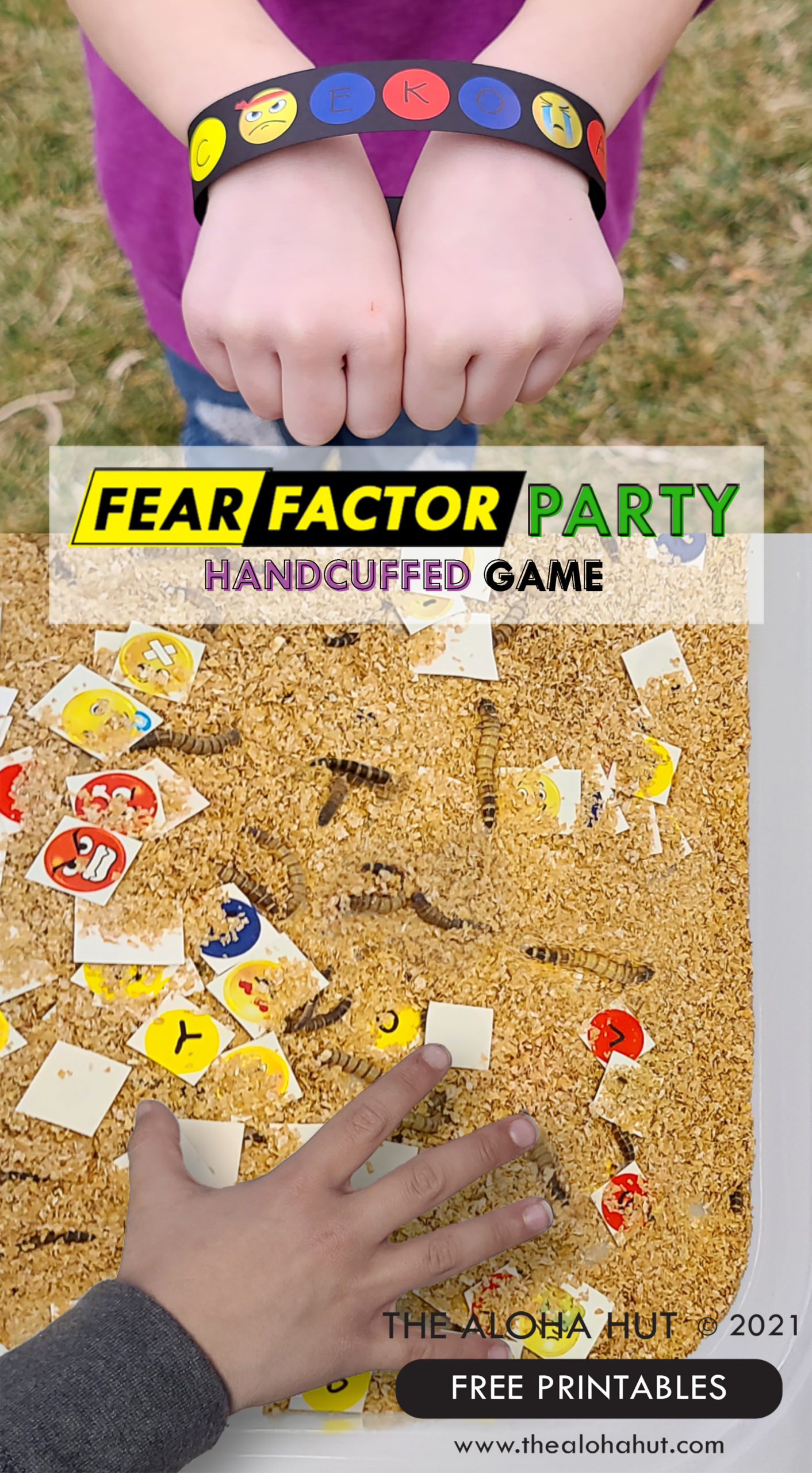 Fear Factor Party Handcuffed Game - The Aloha Hut