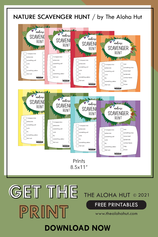 FREE Printable Nature Scavenger Hunt by the Aloha Hut