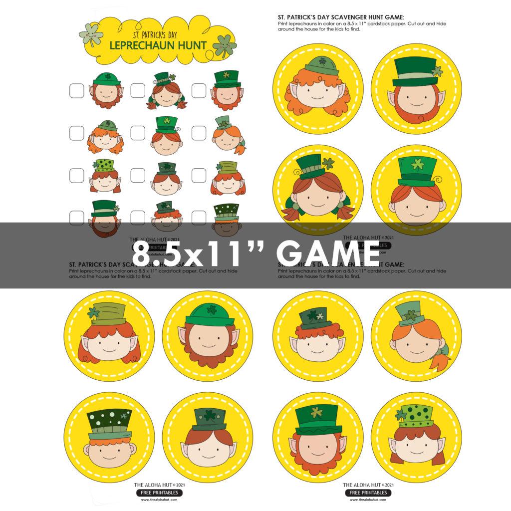 St Patrick's Day Leprechaun Hunt Game Free Printable - by the Aloha Hut