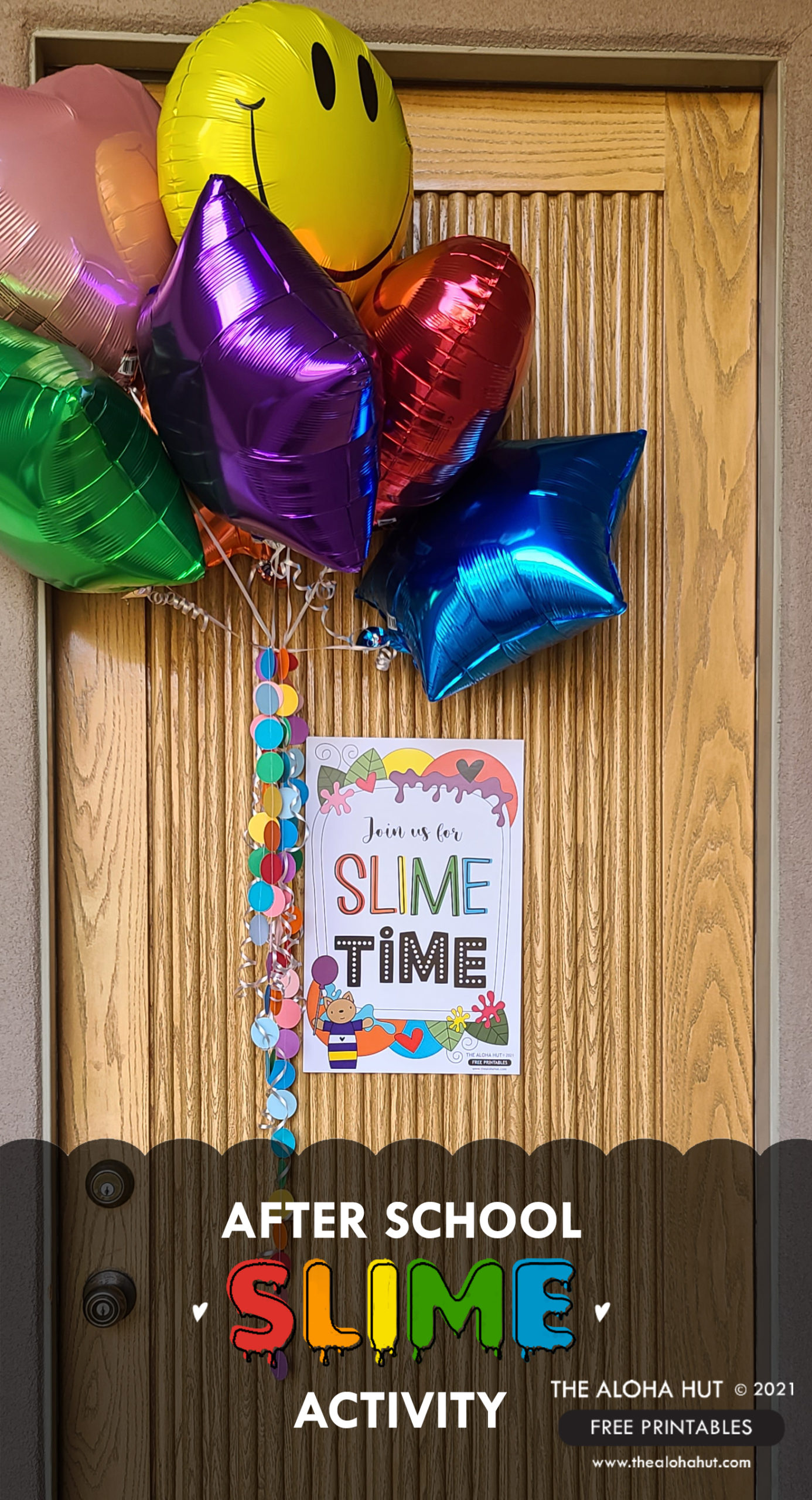 After School Slime Activity - Door Sign FREE Printable - The Aloha Hut