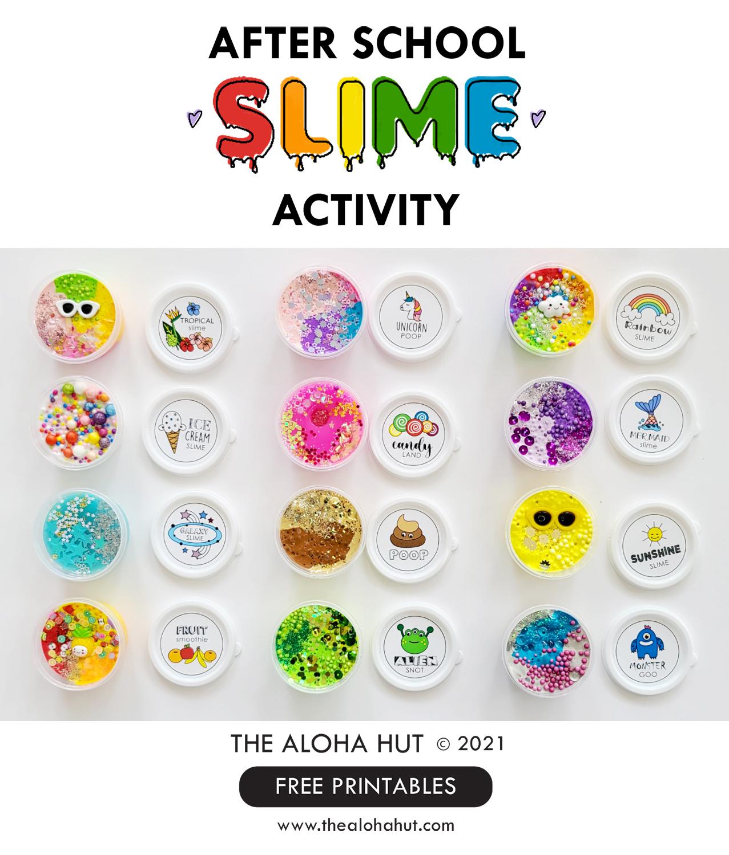 Slime Activity FREE Printable Labels - The Aloha Hut