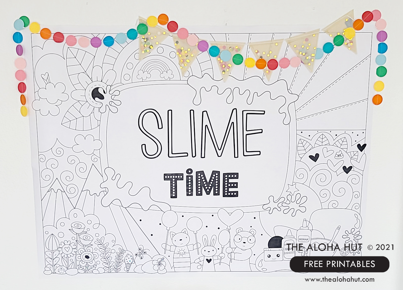 After School Slime Activity - Backdrop FREE Printable - The Aloha Hut