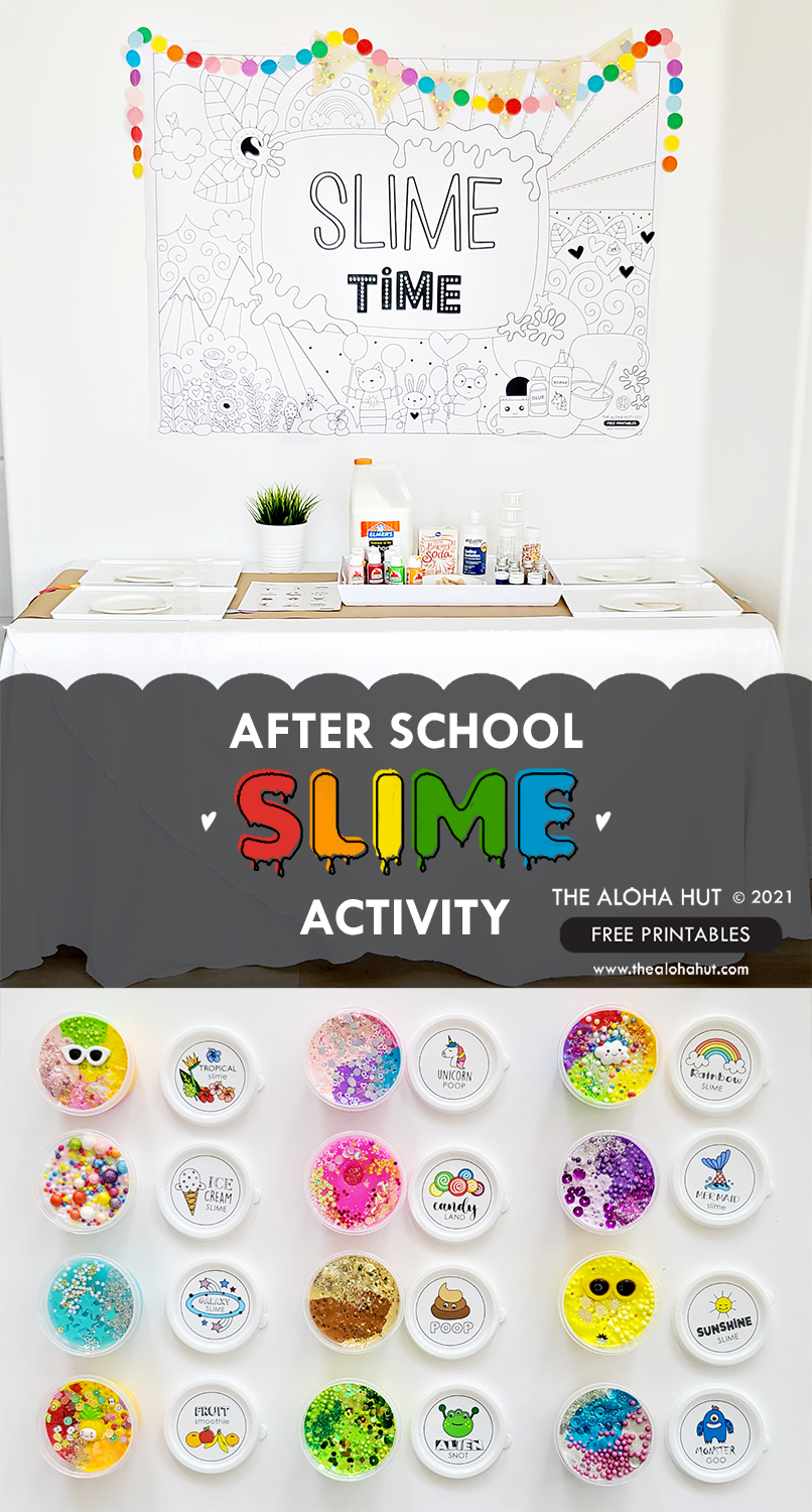 After School Slime Activity FREE Printables - The Aloha Hut