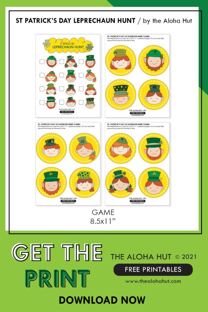 St Patrick's Day Leprechaun Hung Game Free Printable by the Aloha Hut