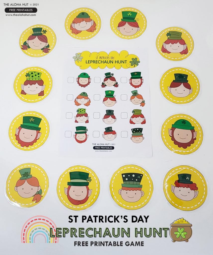 St Patrick's Day Leprechaun Hunt Free Printable Game by the Aloha Hut