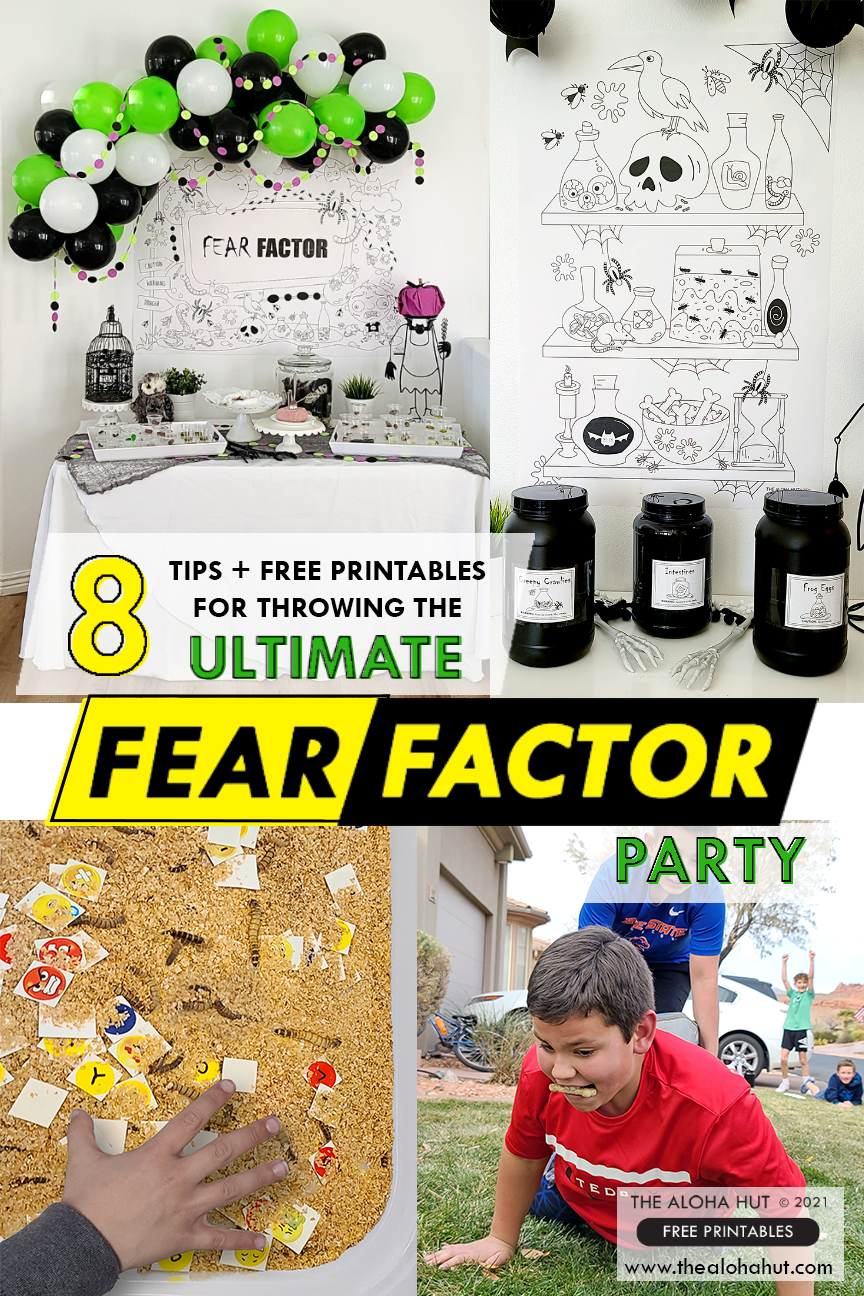 8 Tips & Tricks Free for the Ultimate Fear Factor Party + Free Printables- The Aloha Hut