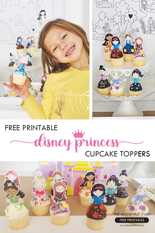 Disney Princess Cupcake Toppers by the Aloha Hut