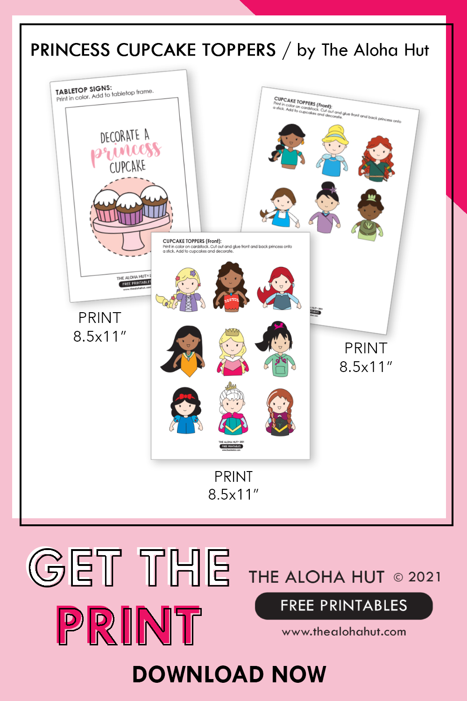 Free Printable - Disney Princess Cupcake Toppers by the Aloha Hut