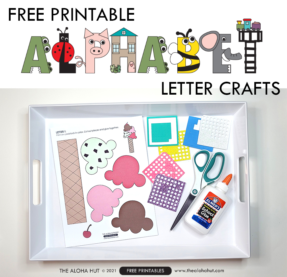 Alphabet Letter Craft - Letter I - free printable 3 by the Aloha Hut