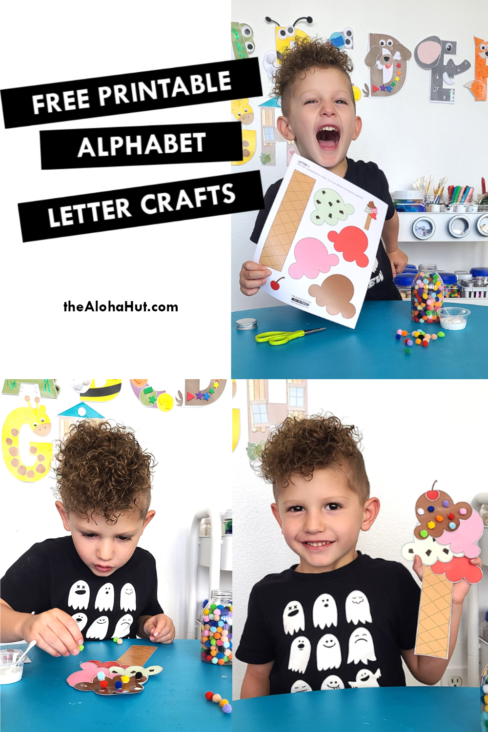 Alphabet Letter Craft - Letter I - free printable 4 by the Aloha Hut