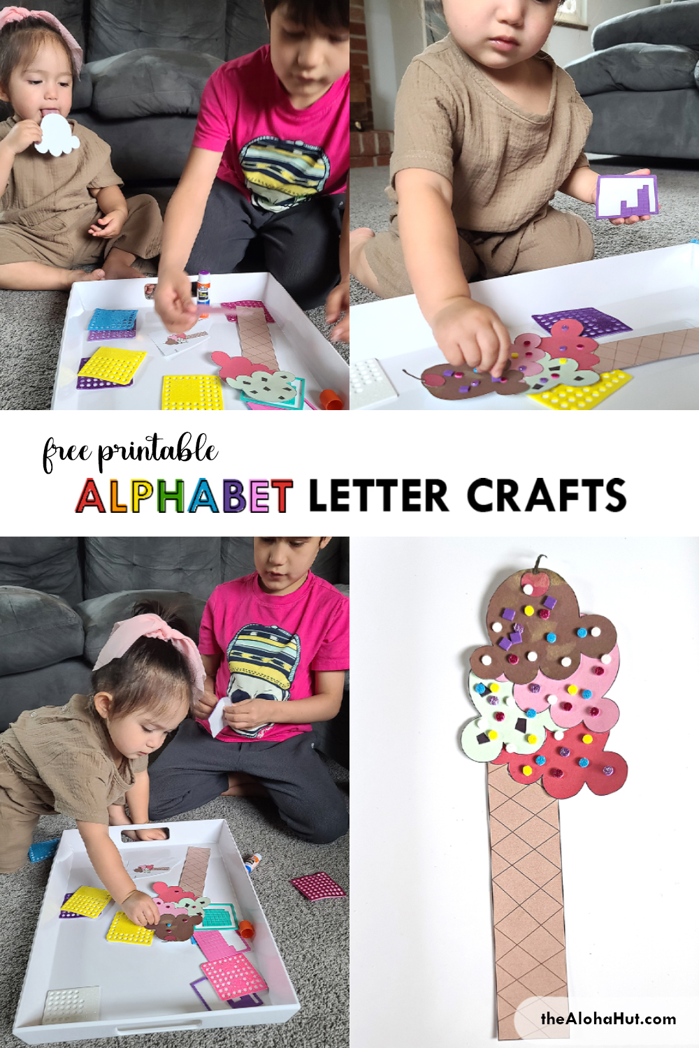 Alphabet Letter Craft - Letter I - free printable 6 by the Aloha Hut