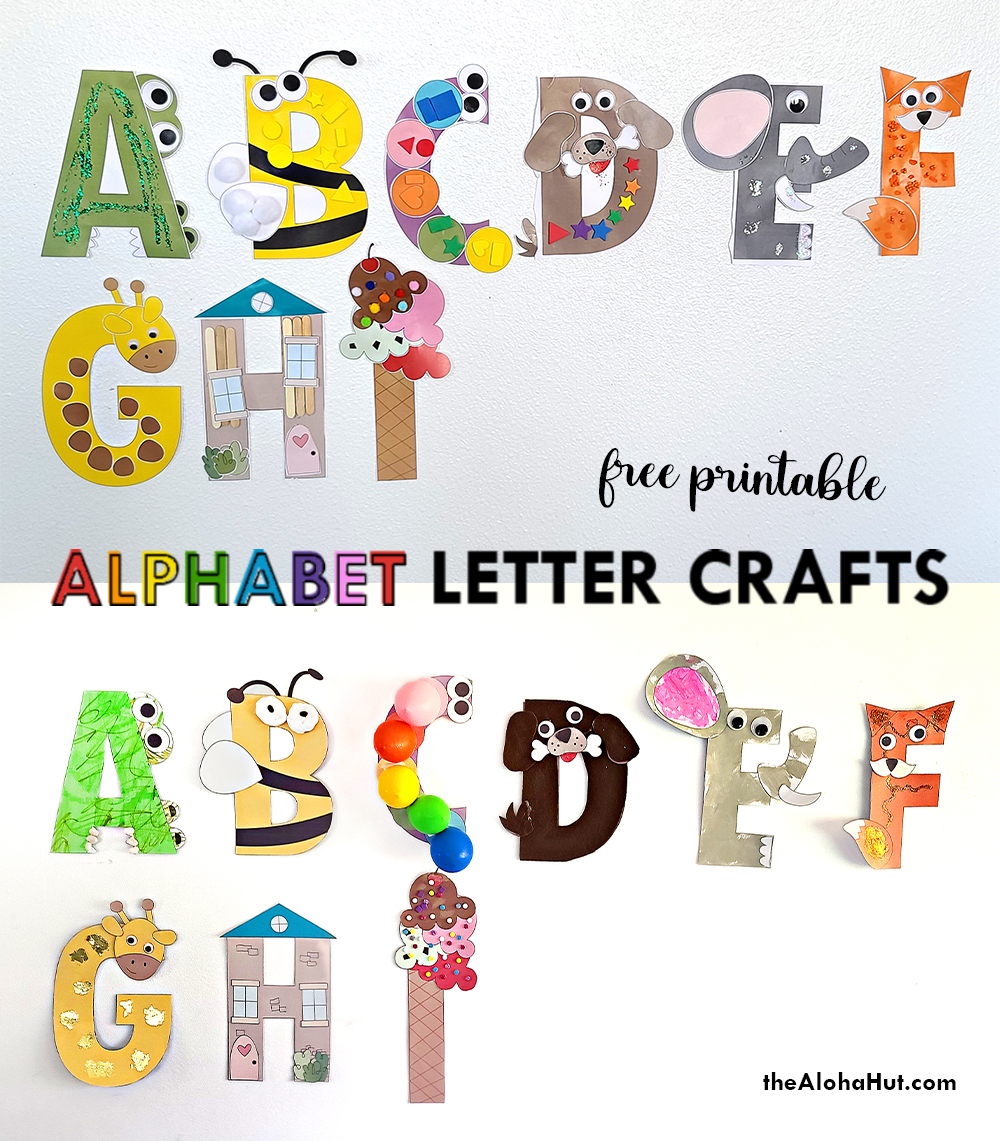 Alphabet Letter Craft - Letter I - free printable by the Aloha Hut