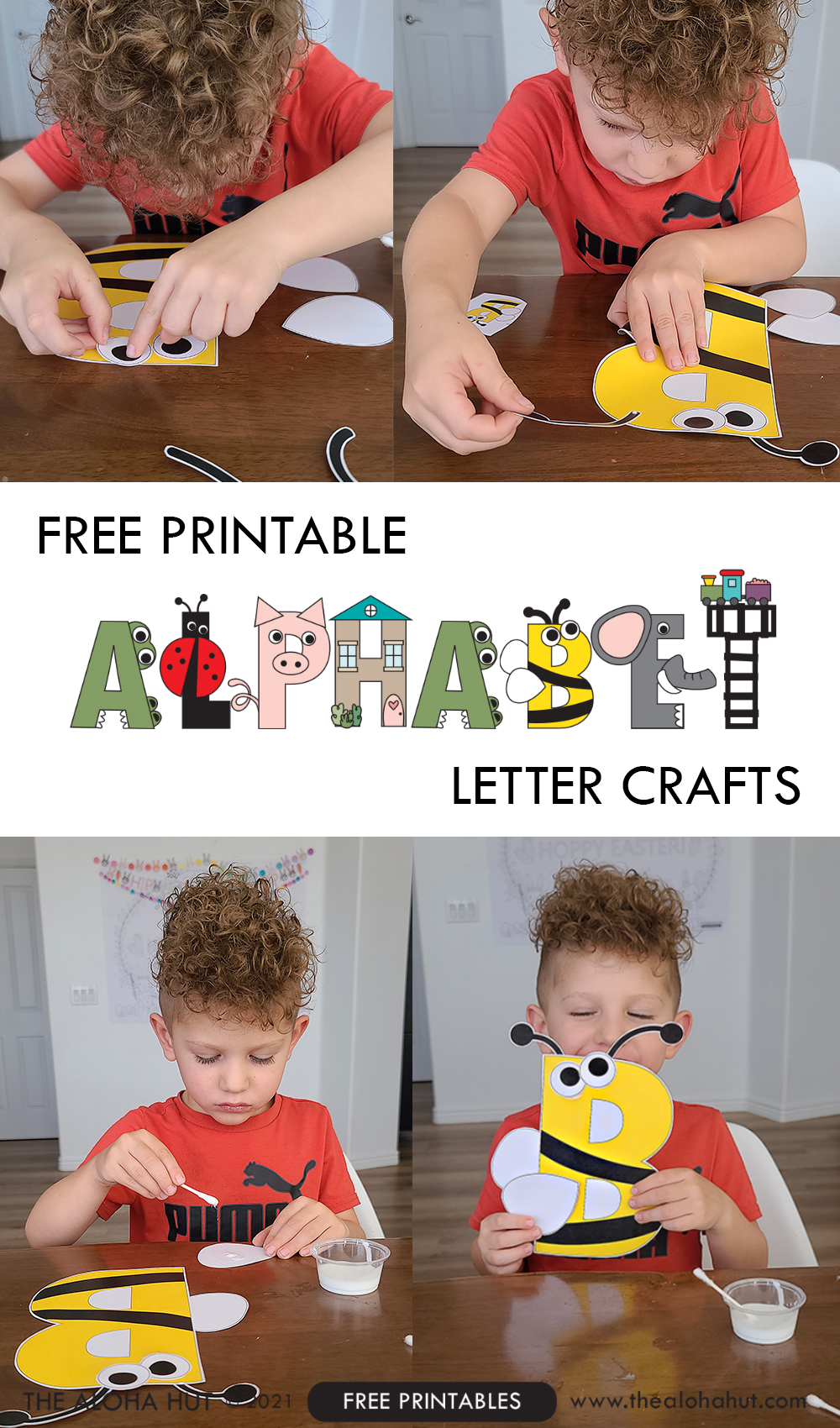 Alphabet Letter Crafts - Letter B - free printable 2 by the Aloha Hut