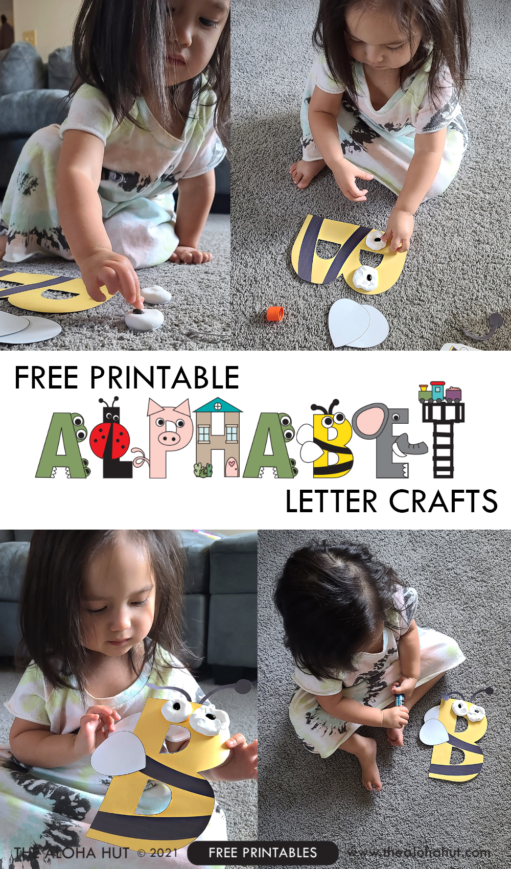 Alphabet Letter Crafts - Letter B - free printable 3 by the Aloha Hut