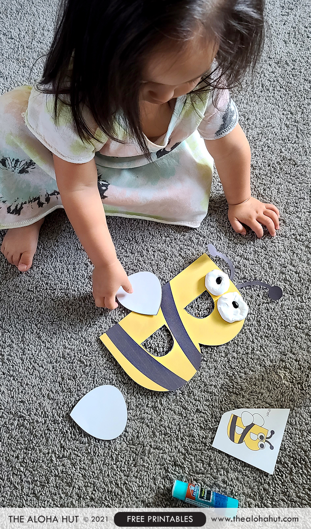 Alphabet Letter Crafts - Letter B - free printable 4 by the Aloha Hut