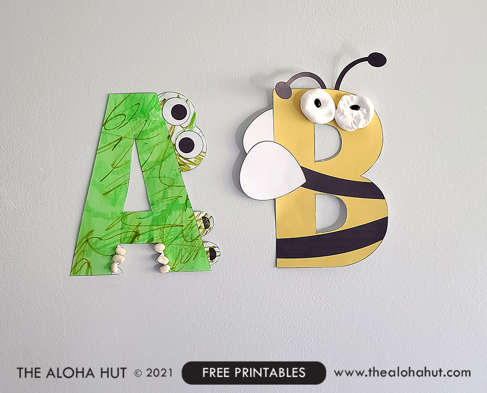 Alphabet Letter Crafts - Letter B - free printable 5 by the Aloha Hut