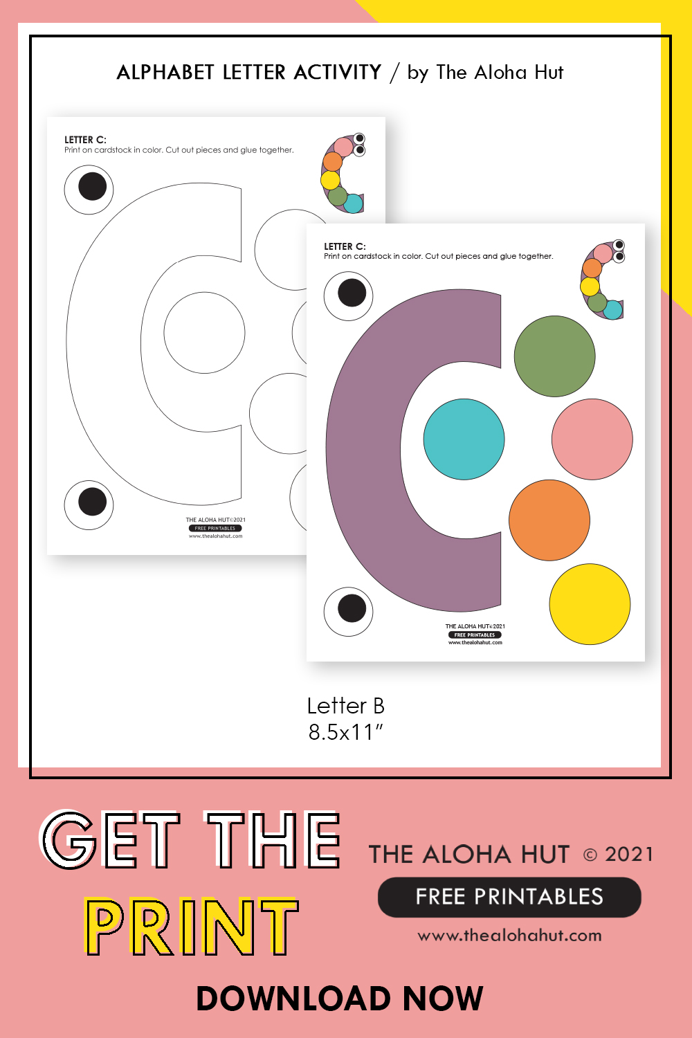 Alphabet Letter Crafts - Letter C - free printable 2 by the Aloha Hut