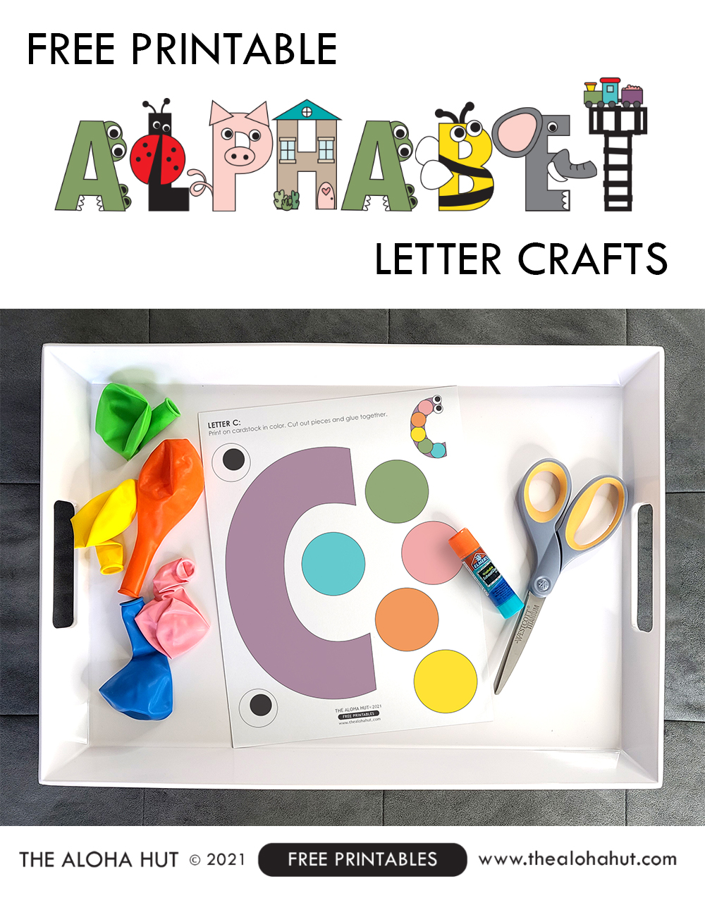 Alphabet Letter Crafts - Letter C - free printable 3 by the Aloha Hut