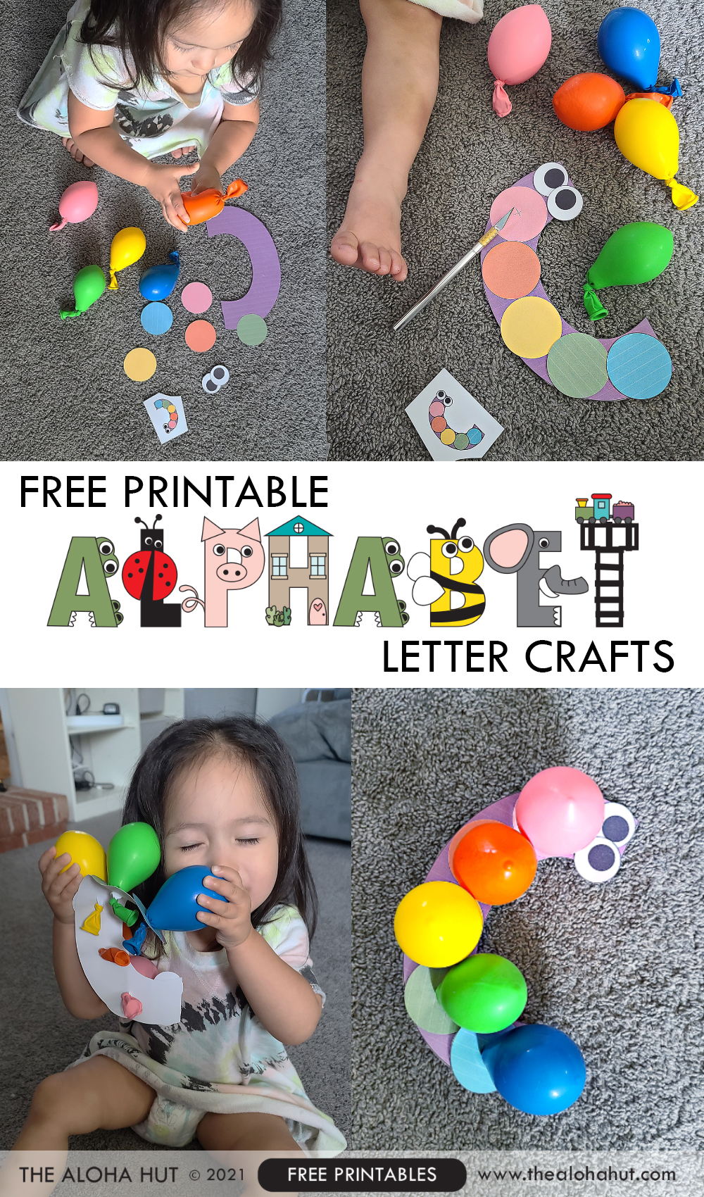 Alphabet Letter Crafts - Letter C - free printable 4 by the Aloha Hut