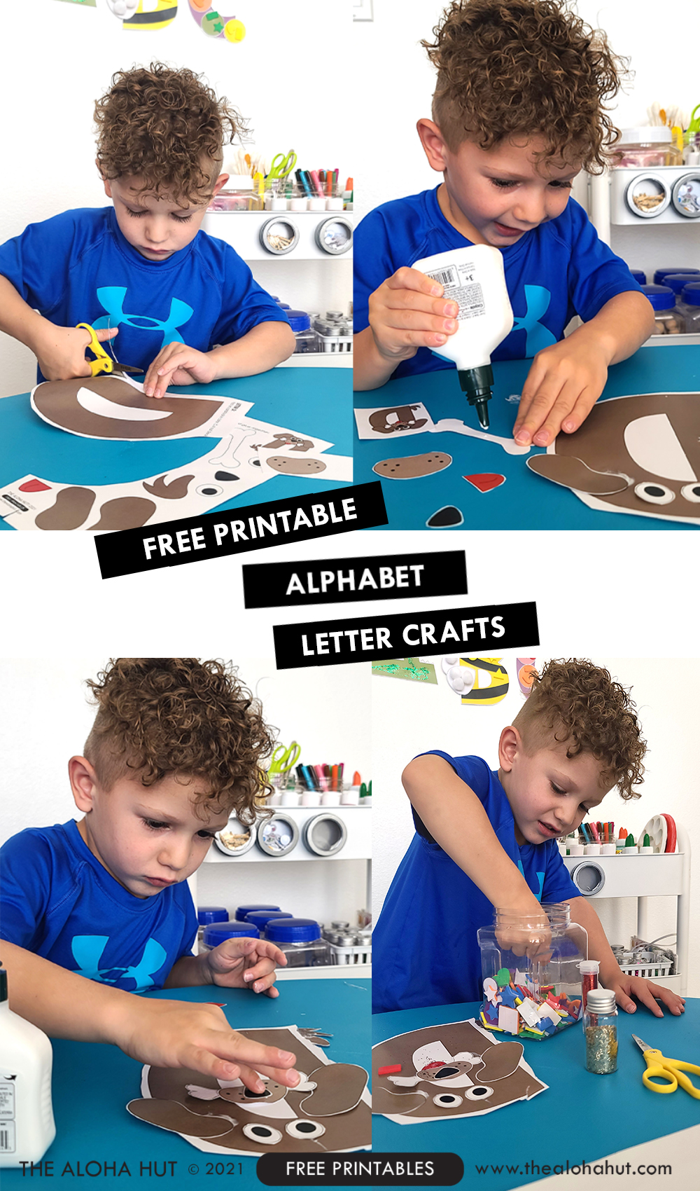 Alphabet Letter Crafts - Letter D - free printable 2 by the Aloha Hut