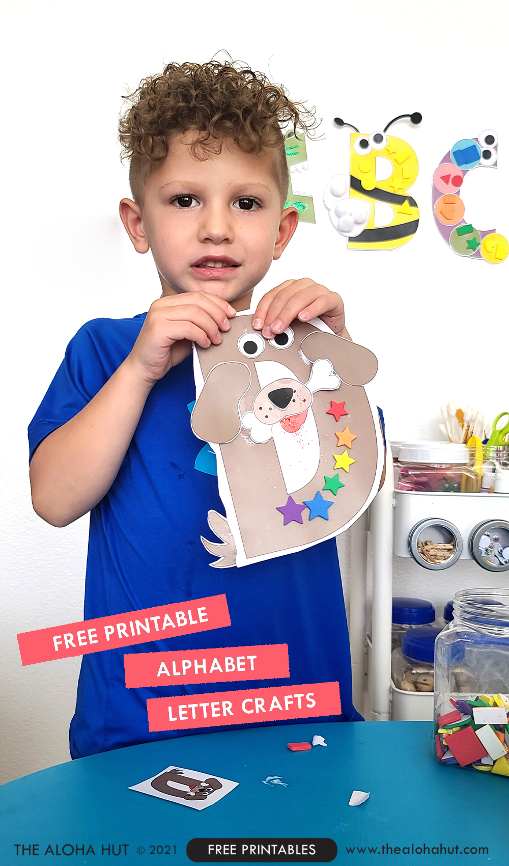 Alphabet Letter Crafts - Letter D - free printable 3 by the Aloha Hut