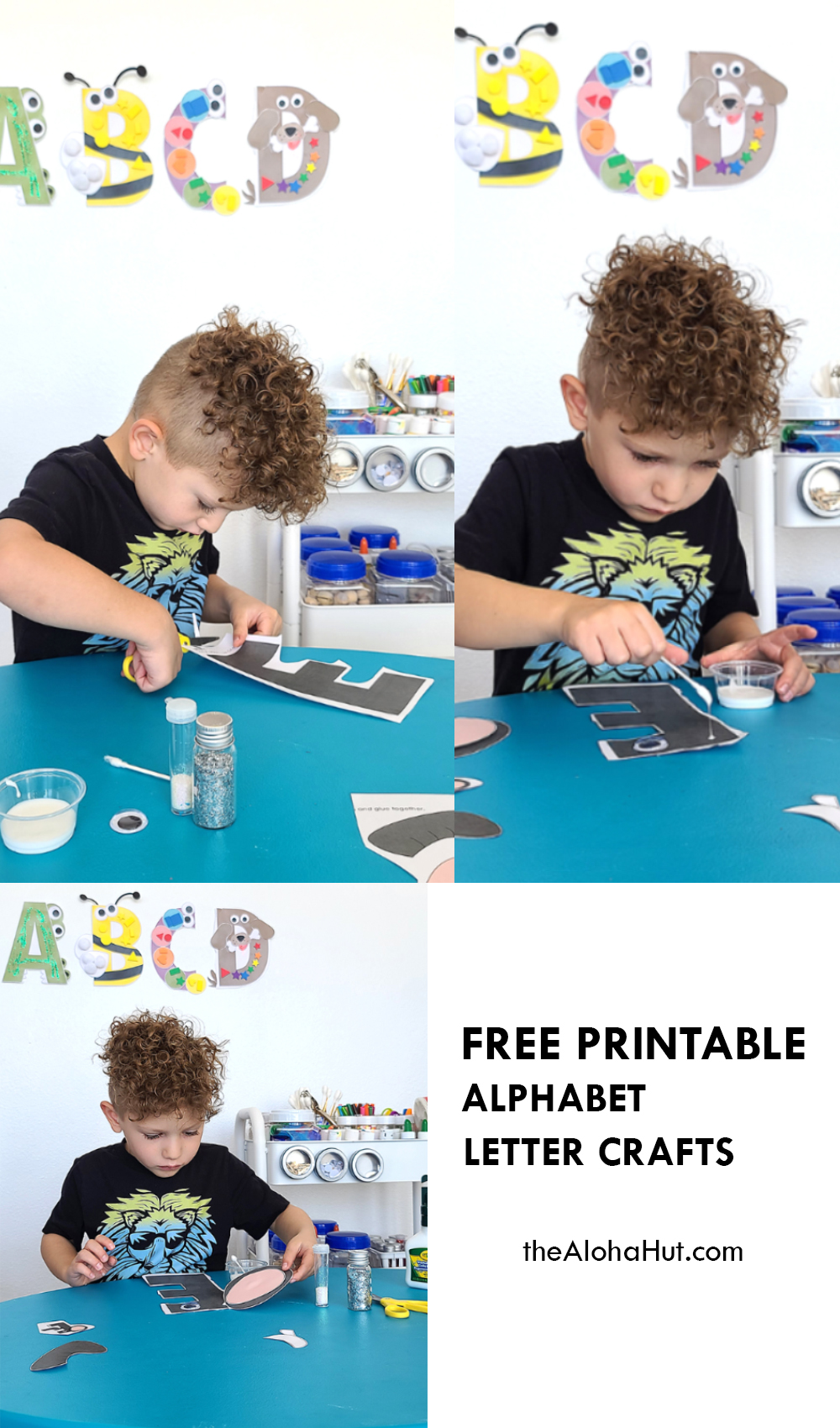 Alphabet Letter Crafts - Letter E - free printable 2 by the Aloha Hut
