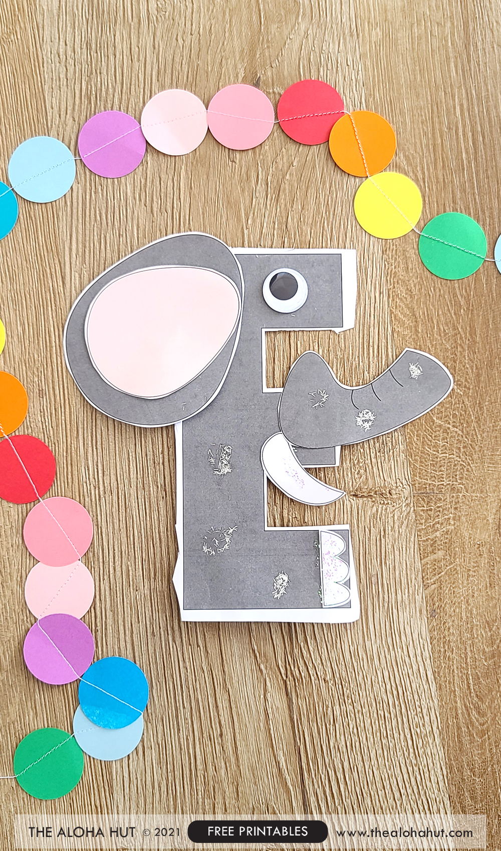 Alphabet Letter Crafts - Letter E - free printable 3 by the Aloha Hut