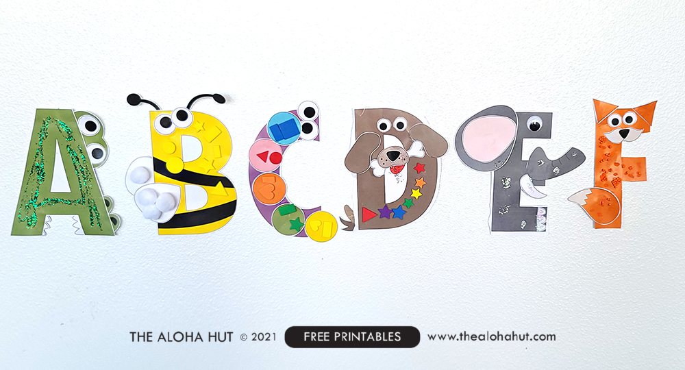 Alphabet Letter Crafts - Letter F - free printable 4 by the Aloha Hut