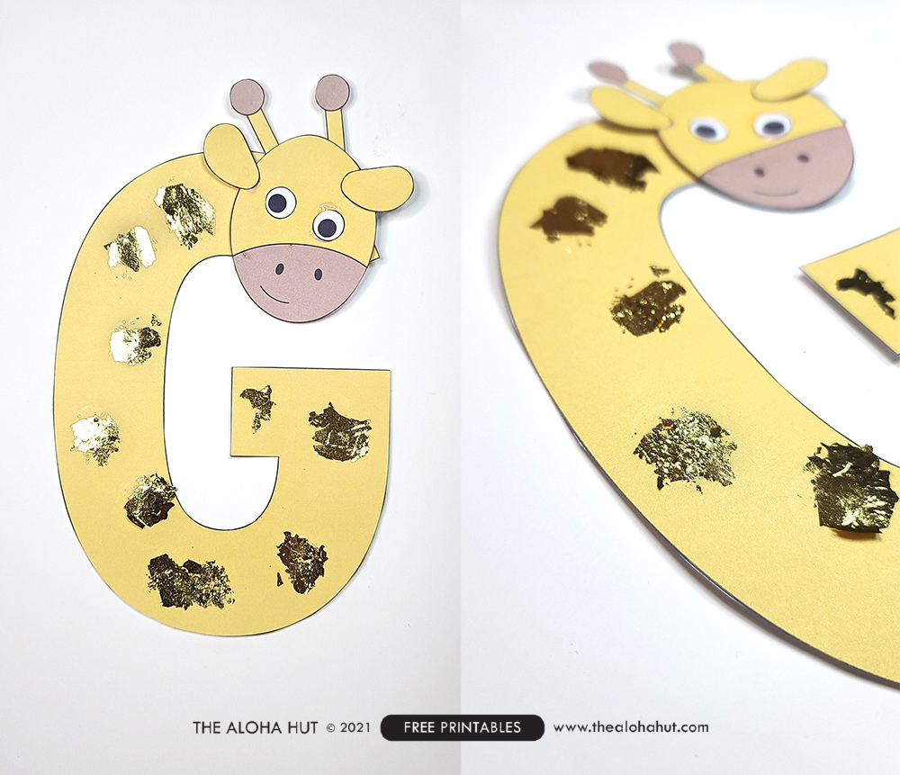Alphabet Letter Crafts - Letter G - free printable 2 by the Aloha Hut