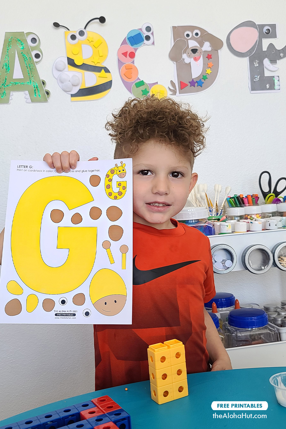 Alphabet Letter Crafts - Letter G - free printable 3 by the Aloha Hut