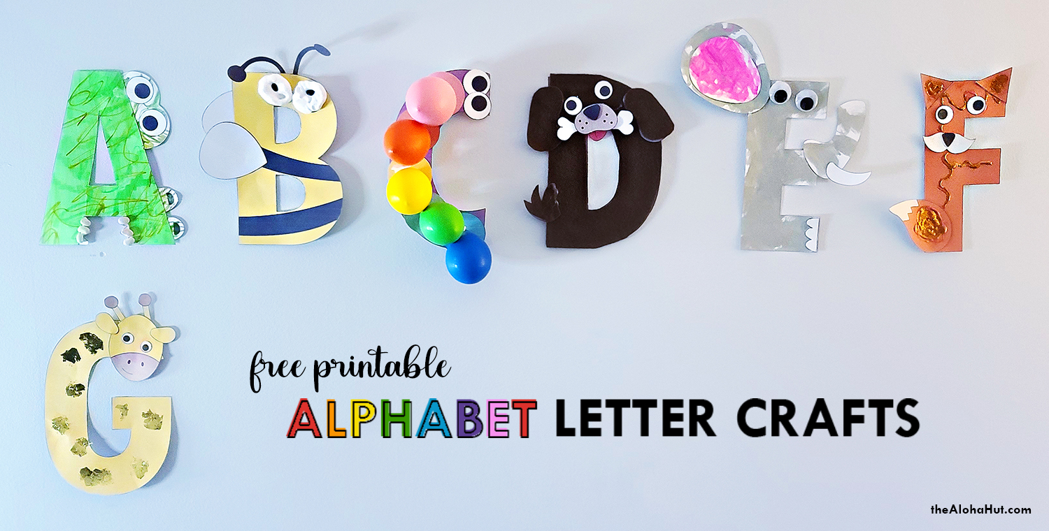Alphabet Letter Crafts - Letter G - free printable 8 by the Aloha Hut