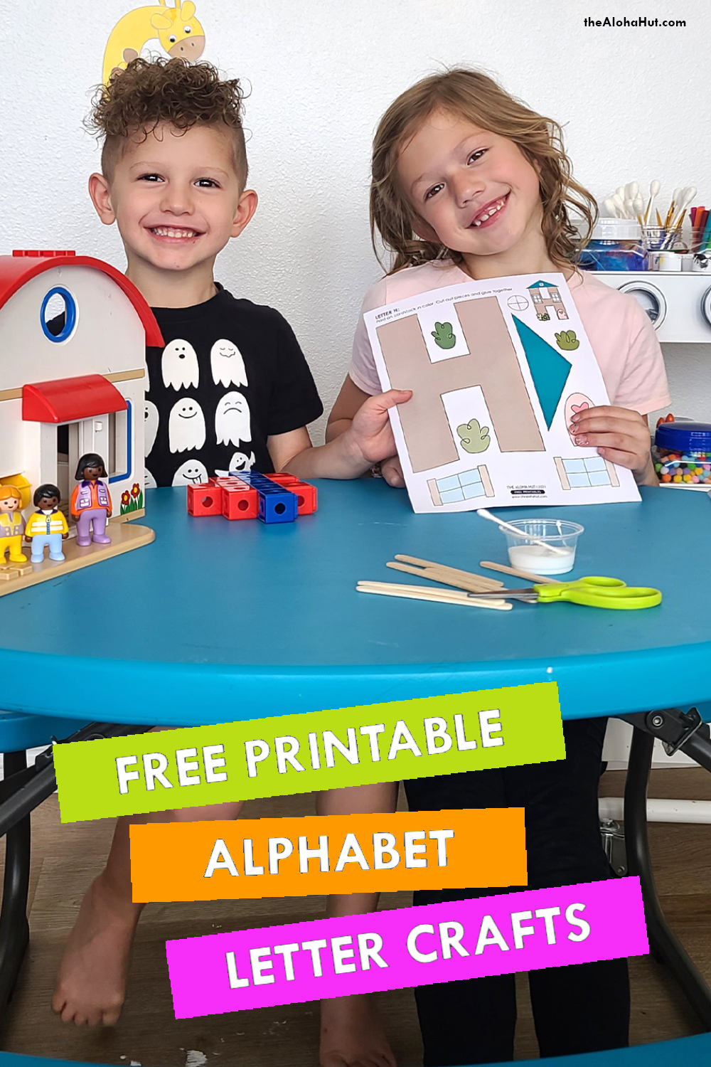 Alphabet Letter Crafts - Letter H - free printable 3 by the Aloha Hut