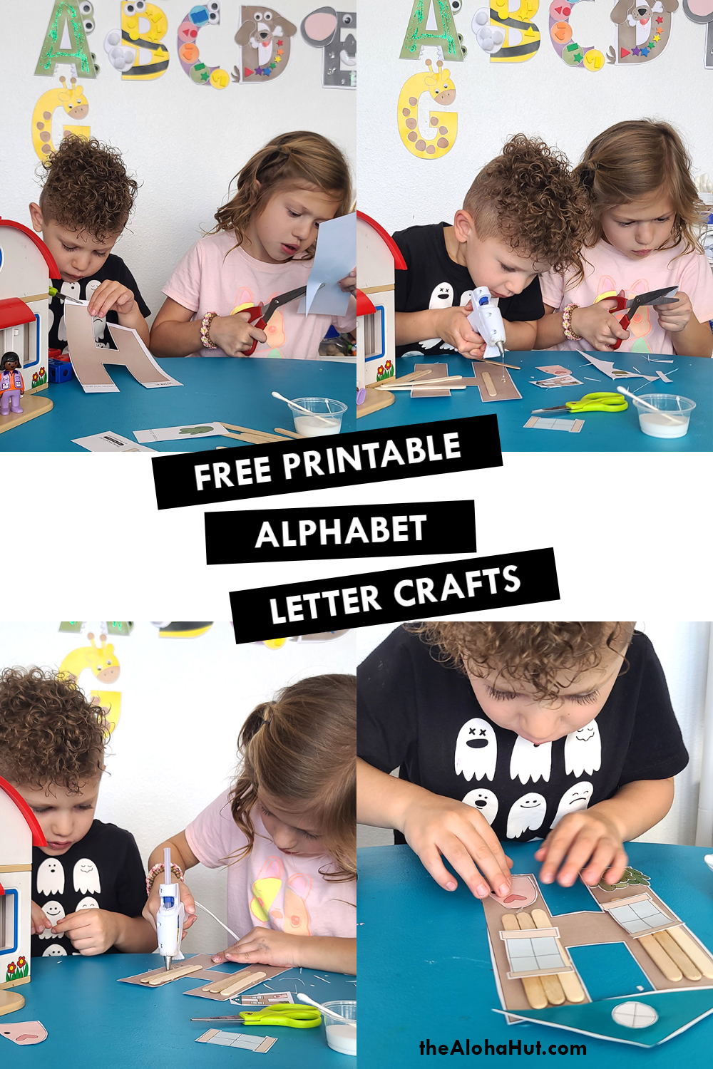 Alphabet Letter Crafts - Letter H - free printable 4 by the Aloha Hut