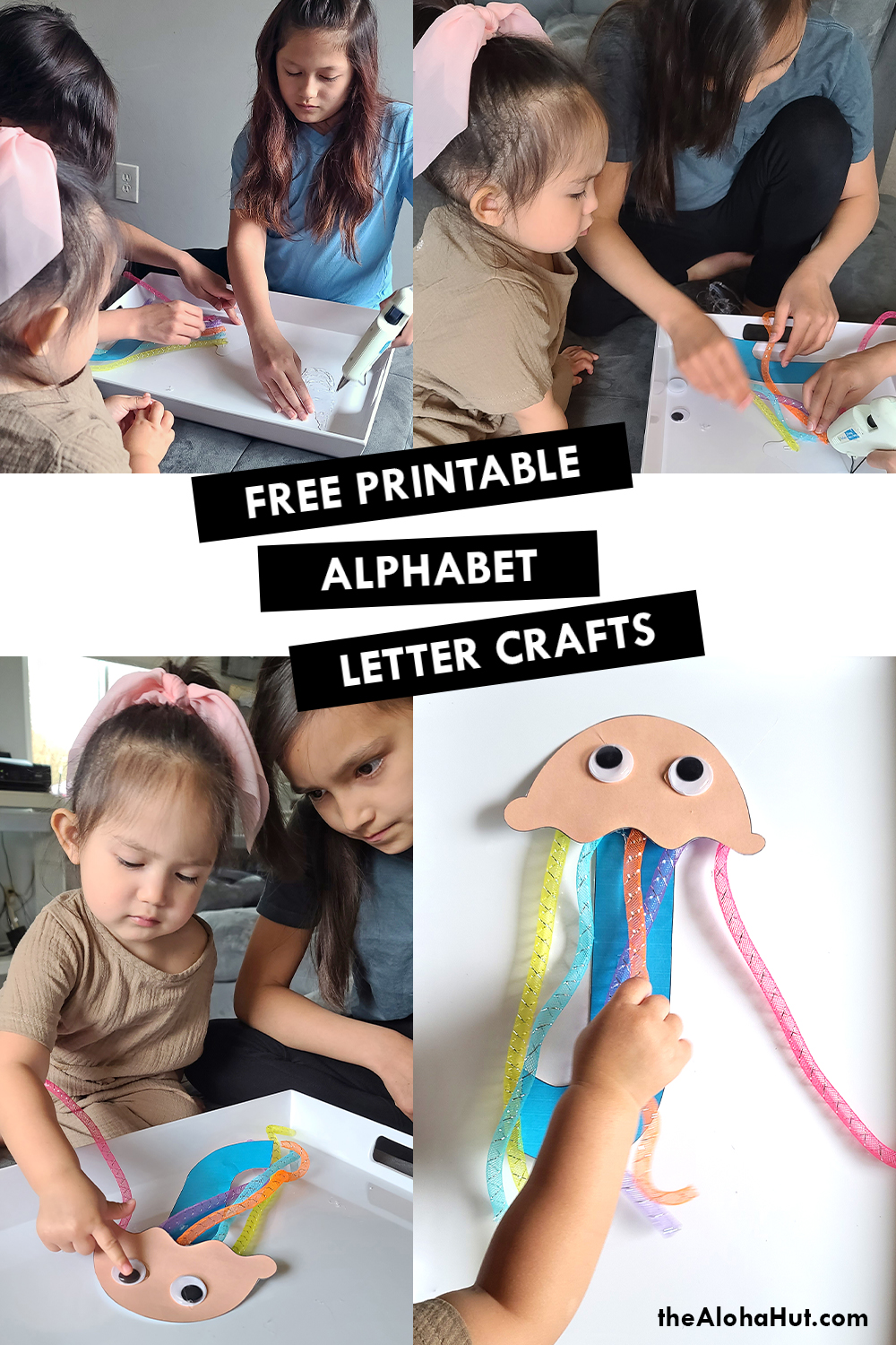 Alphabet Letter Crafts - Letter J - free printable by the Aloha Hut