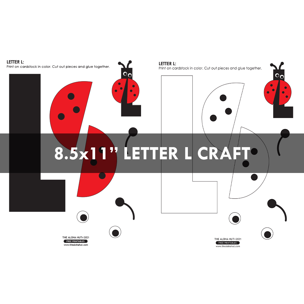 Alphabet Letter Crafts - Letters K L M N - free printable by the Aloha Hut