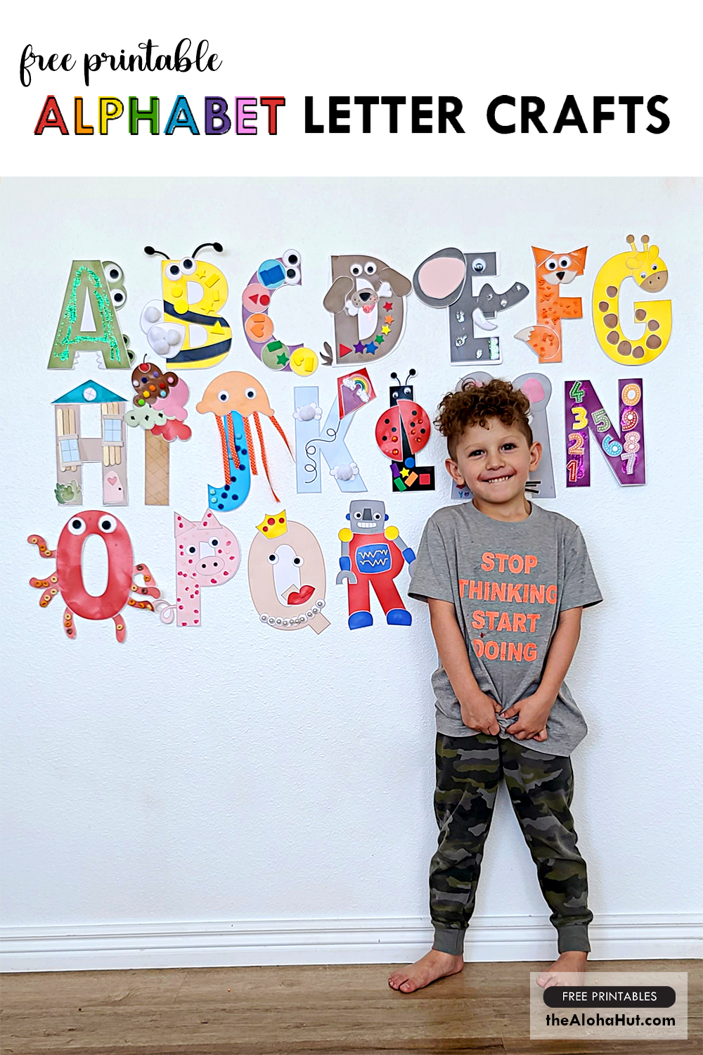 Alphabet Letter Crafts - Letters O P Q R - free printables 4 by the Aloha Hut