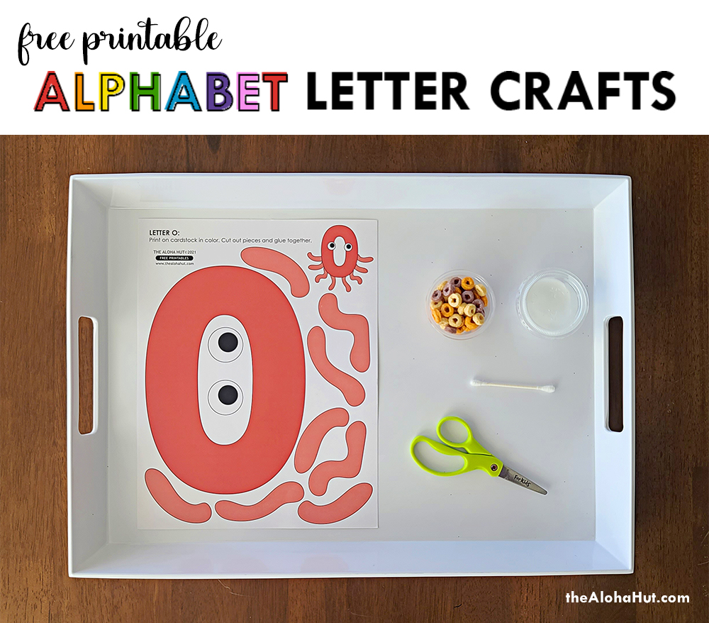 Alphabet Letter Crafts - Letters O - free printable by the Aloha Hut