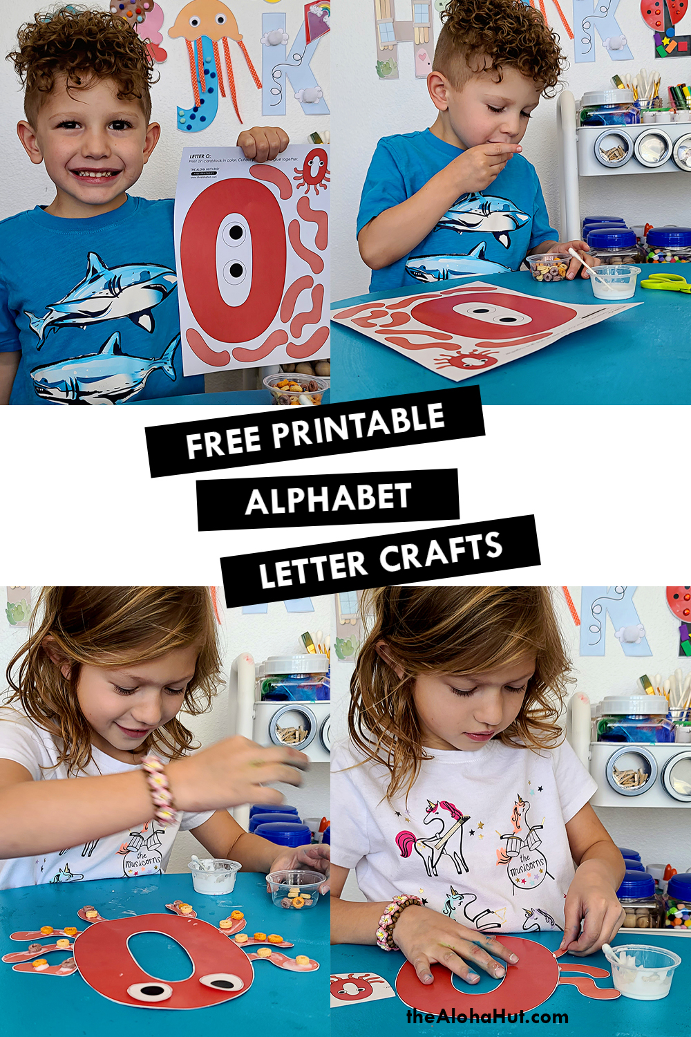 Alphabet Letter Crafts - Letters O - free printables 2 by the Aloha Hut
