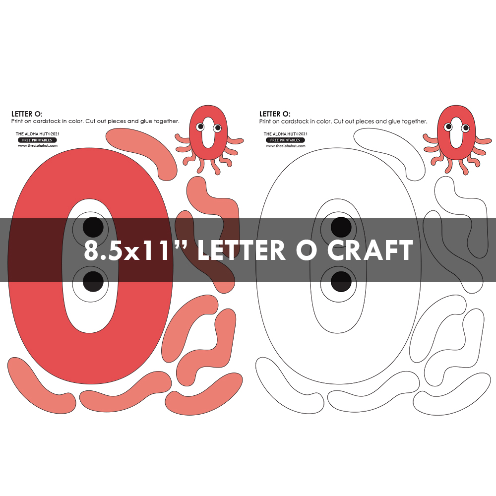 Alphabet Letter Crafts - Letters O - free printables 5 by the Aloha Hut
