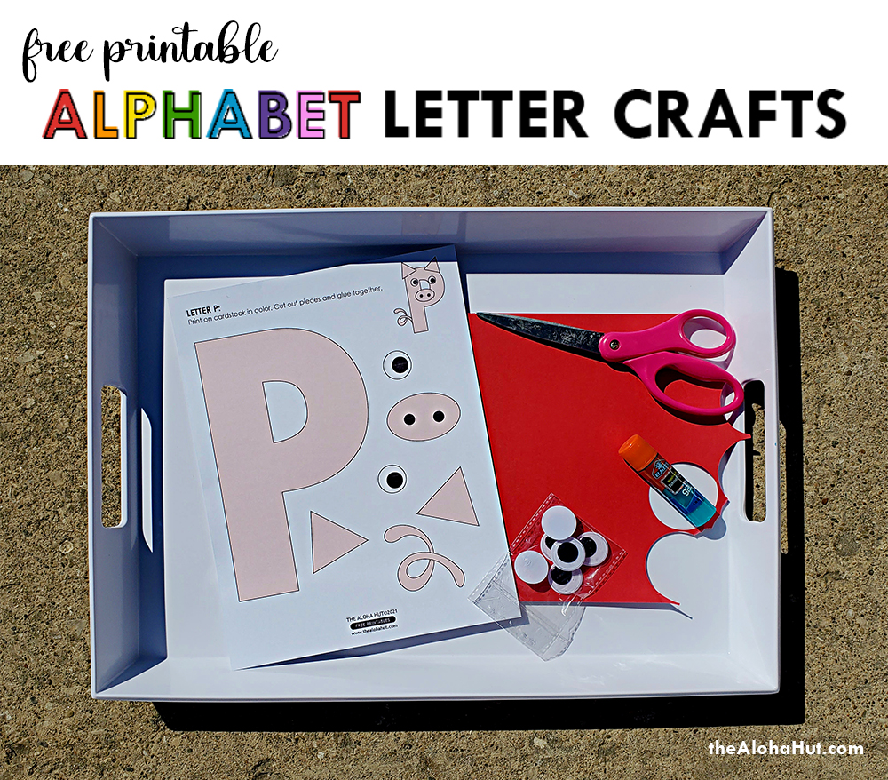 Alphabet Letter Crafts - Letters P- free printables by the Aloha Hut