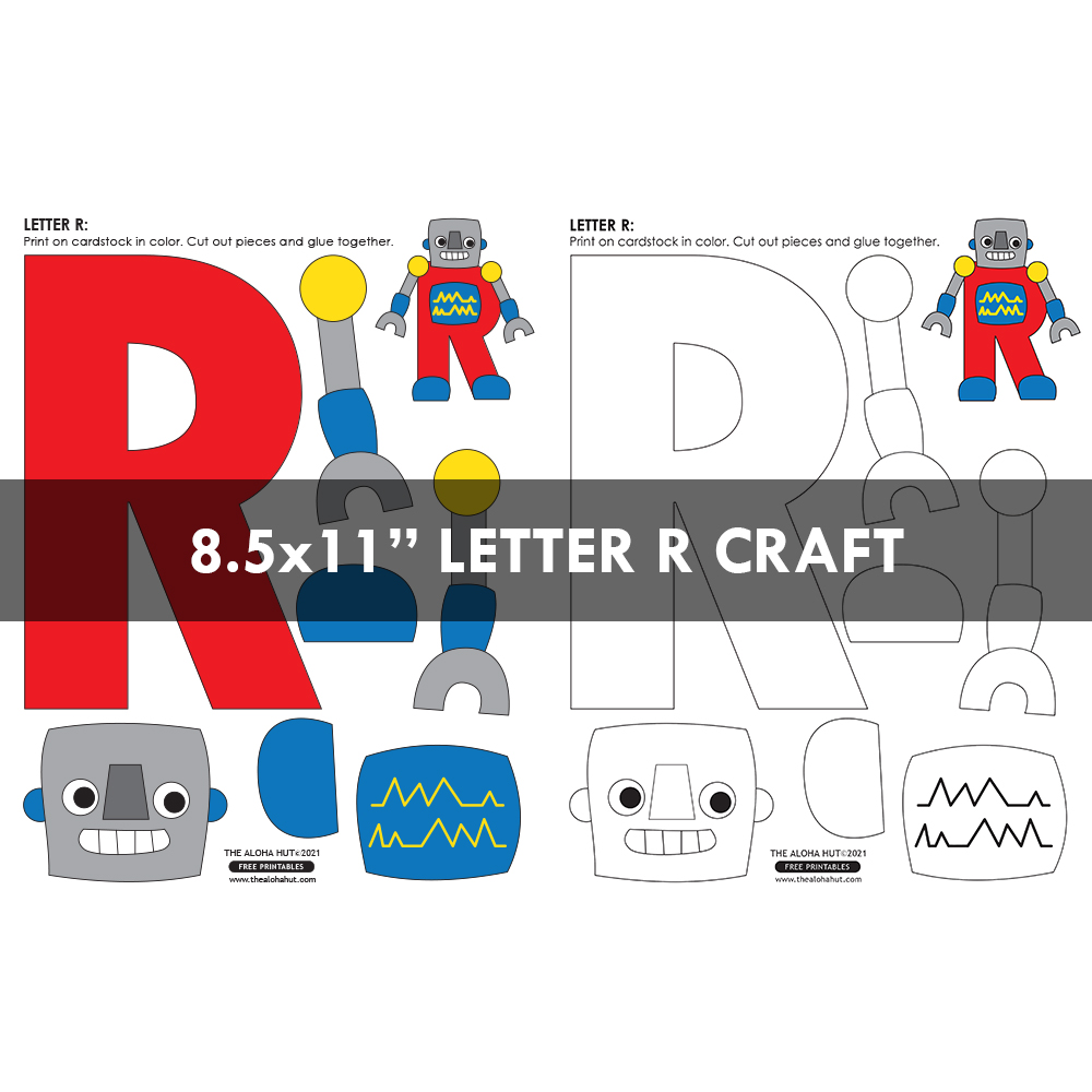 Alphabet Letter Crafts - Letters R - free printables 3 by the Aloha Hut