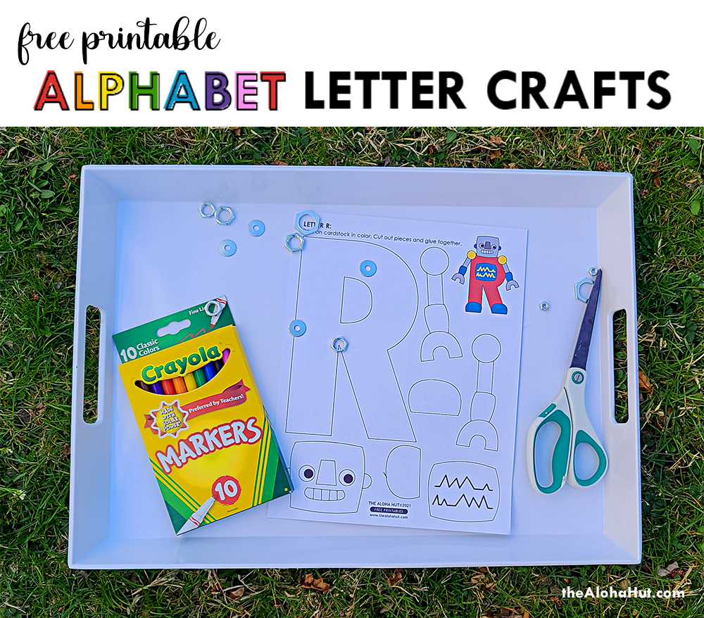 Alphabet Letter Crafts - Letters R - free printables by the Aloha Hut