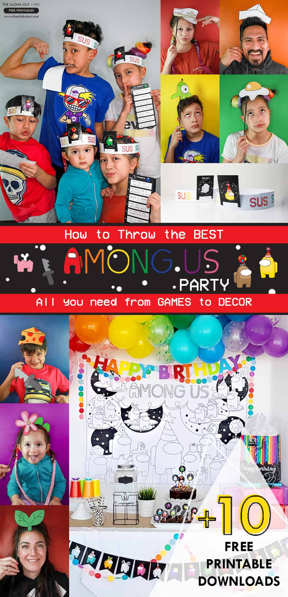 The Best Among Us Party: Games to Decor +10 Free Printables by the Aloha Hut