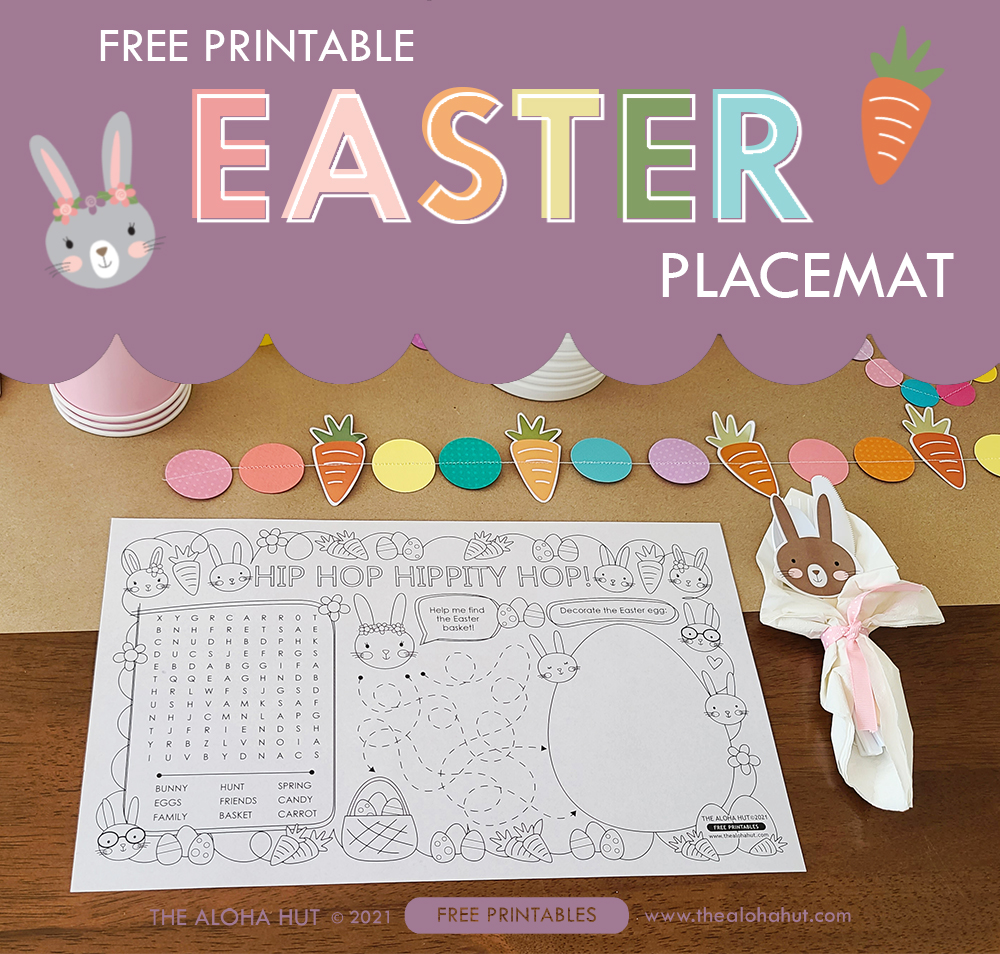 Easter Coloring Backdrop + Placemat free printables 4 by the Aloha Hut